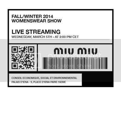 Miu Miu fall winter 2014/15 show livestreaming