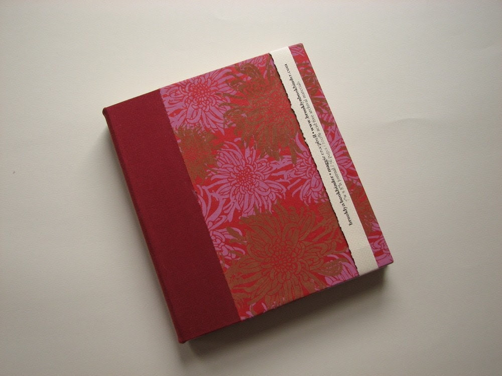 Red and Pink Flower Burst Journal