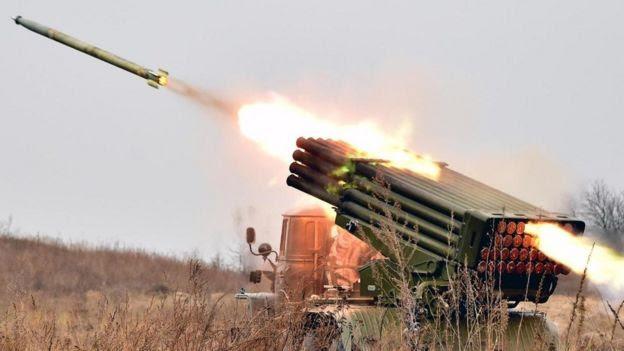 Un ejercicio militar en Kiev