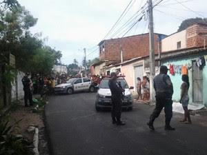 Crime aconteceu na Vila de Ponta Negra na tarde desta quarta-feira (19) (Foto: Sergio Henrique/ InterTv Cabugi)