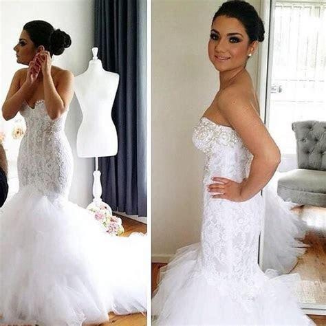 fashion mermaid wedding dresses sexy sweetheart