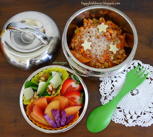 Starry Penne with Meat Sauce Bento by sherimiya ♥
