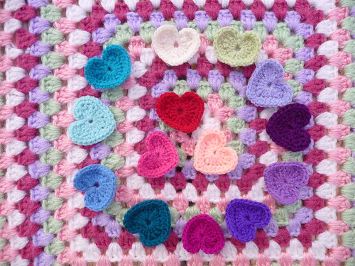 How kind of Ann to make Hearts, Butterflies and Flowers for our Blankets