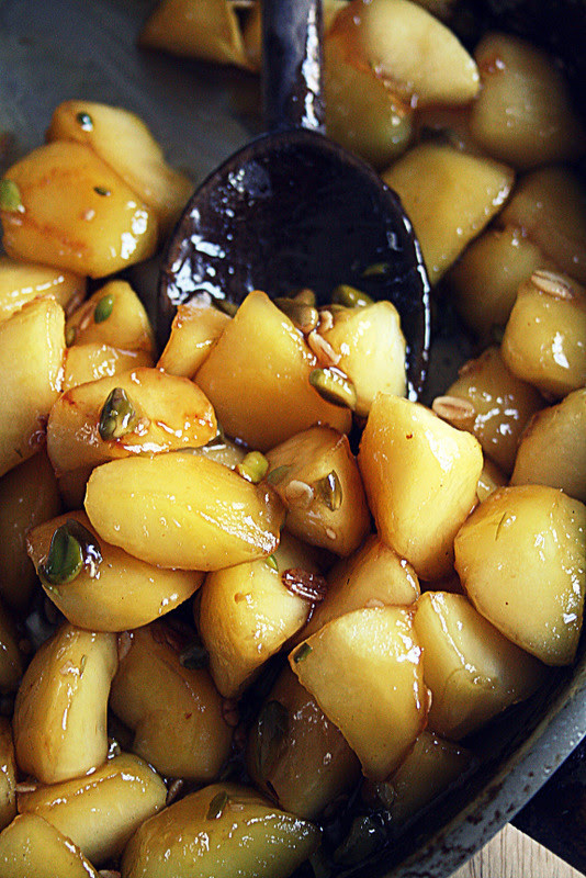 Rosemary Honey Caramelized Apples