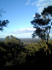 View from the Blue Mountains Hawkesbury Heights Bush Retreat