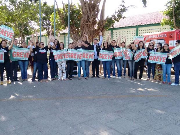Trabalhadores em enfermagem decidiram manter a greve no Piauí (Foto: Divulgação/Senatepi)