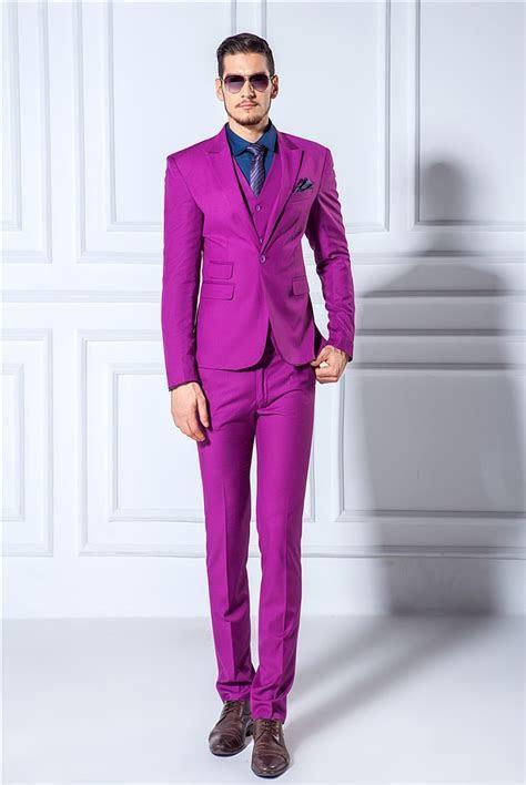 Black And Purple Prom Suit Dress Yy