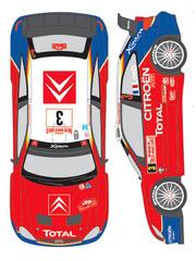 Calcas 1/24 Shunko Models - Citroen Xsara WRC Total Nº 3, 4 - Sebastien Loeb, Carlos Sainz - Rally de Montecarlo 2004 - para kit de Heller 80751