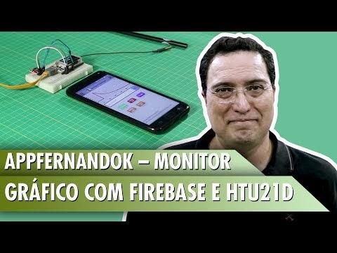 AppFernandoK Monitor gráfico com Firebase e HTU21D
