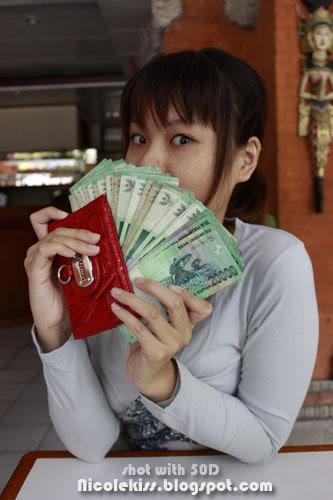 holding up my money