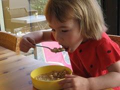 Breakfast of cereal