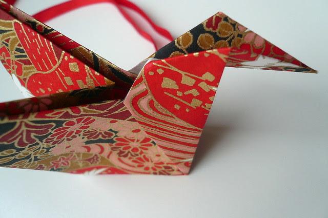 Origami Bird Christmas Ornament