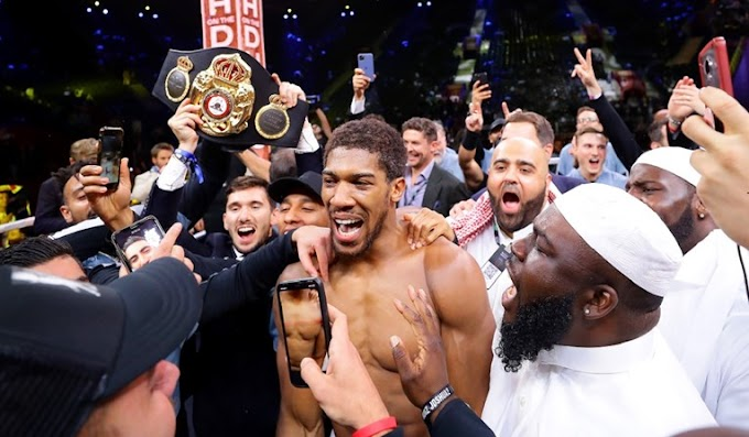 Anthony Joshua : Thank God and BISMILLAH !