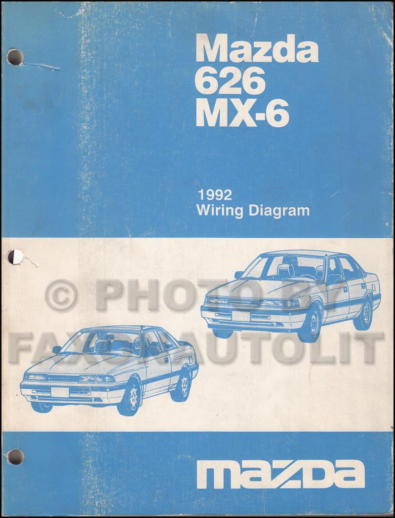 1992 Mazda 626 and MX-6 Wiring Diagram Manual Original