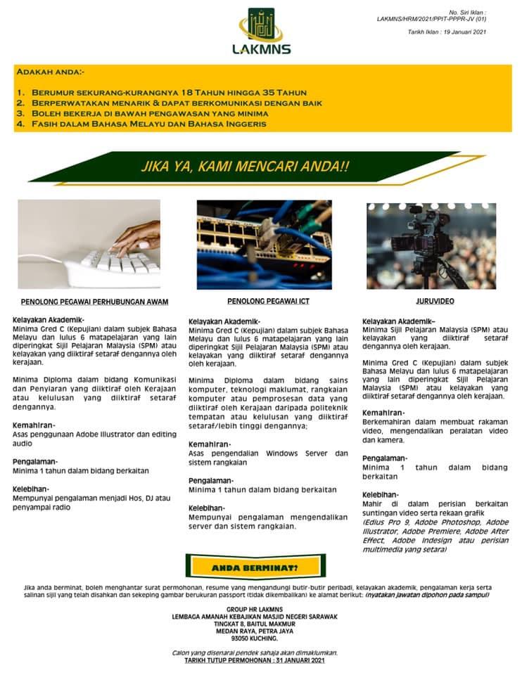 Iklan Jawatan Lembaga Amanah Kebajikan Masjid Negeri ...