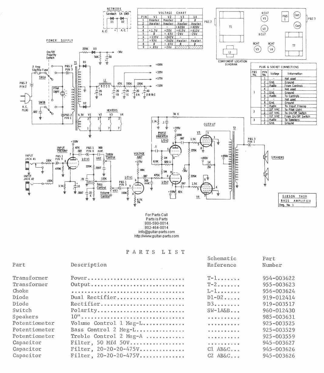 Bass Amp Schematic
