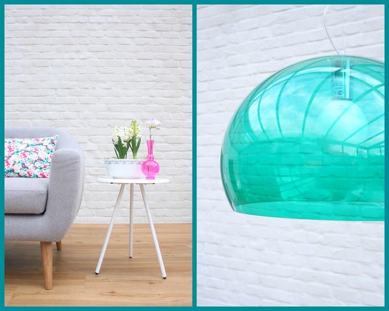 sofa + lamp