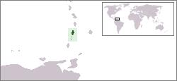 Vị trí của Saint Vincent và Grenadines