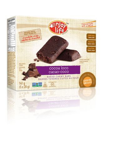 Enjoy Life Gluten Free Cocoa Loco Baked Chewy Bars ...