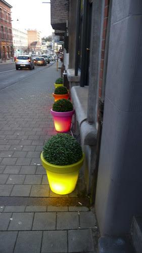 Brussels - Glowing Flowerpots by infomatique