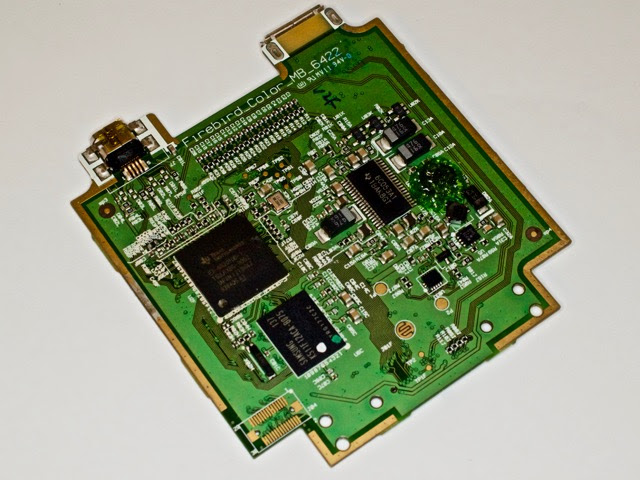 The main PCB in the Ti nSpire CX CAS Calculator