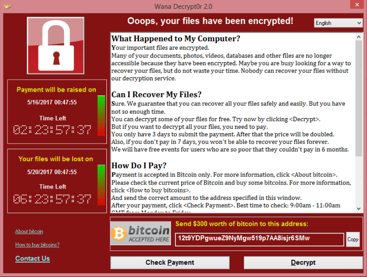 Image result for wanna cry ransomware
