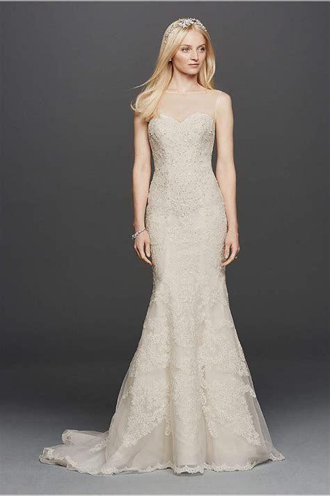 Oleg Cassini Brocade Wedding Dress with Pockets   Davids