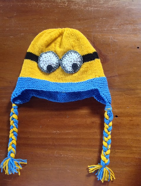 Free Crochet Pattern For Minion Hat With Ear Flaps : Craft Passions: Minion Ear Flap Hat with Braids..# free # ...