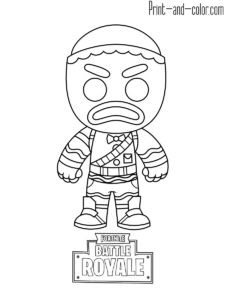 Fortnite Coloring Pages Season 7 Ice King
