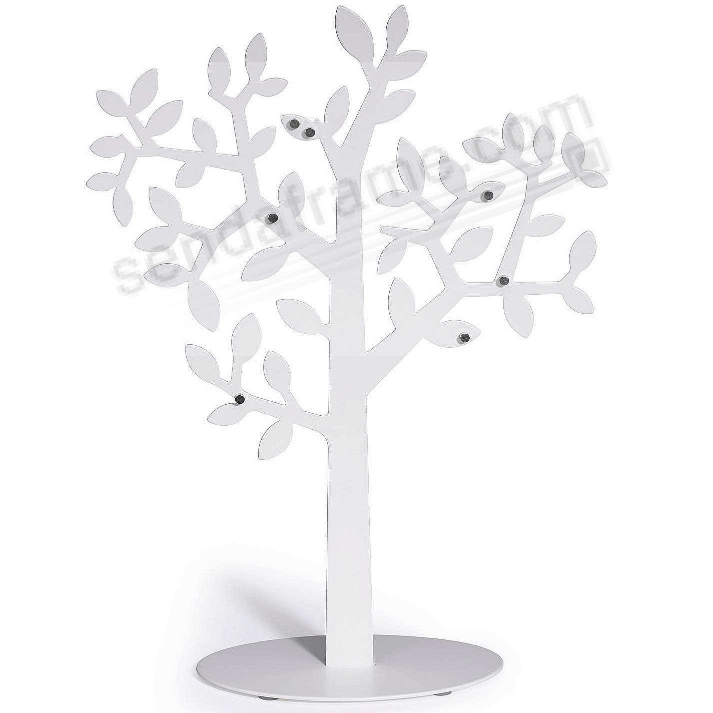 Laurel White Metallic Desk Tree Frame By Umbra With Pill Size