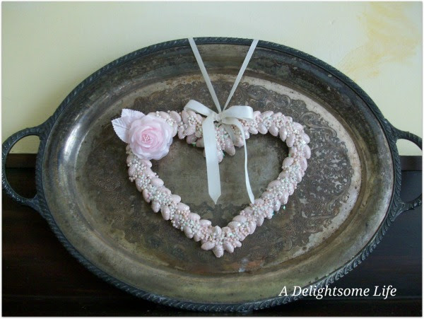 Pink Pistachio Heart Silver Tray3