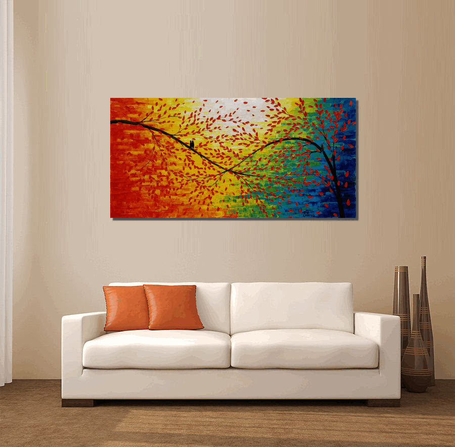 Living Room Wall Art, Modern Art, Original Artwork ...
