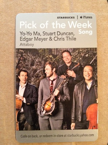 Starbucks iTunes Pick of the Week - Yo-Yo Ma, Stuart Duncan, Edger Meyer & Chris Thile - Attaboy