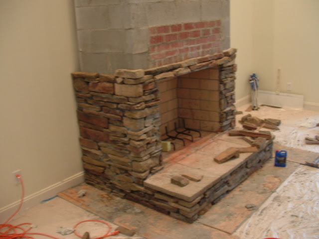 Drystack Stone Fireplace | markitude