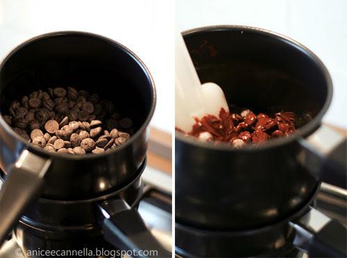 Temperaggio del cioccolato, step1