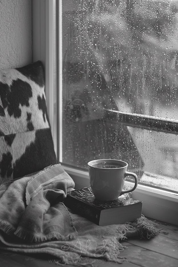 A perfect day, for me, is being tucked in bed next to my window on a rainy day. While drinking hot tea, listening to classical music, and reading a good book...