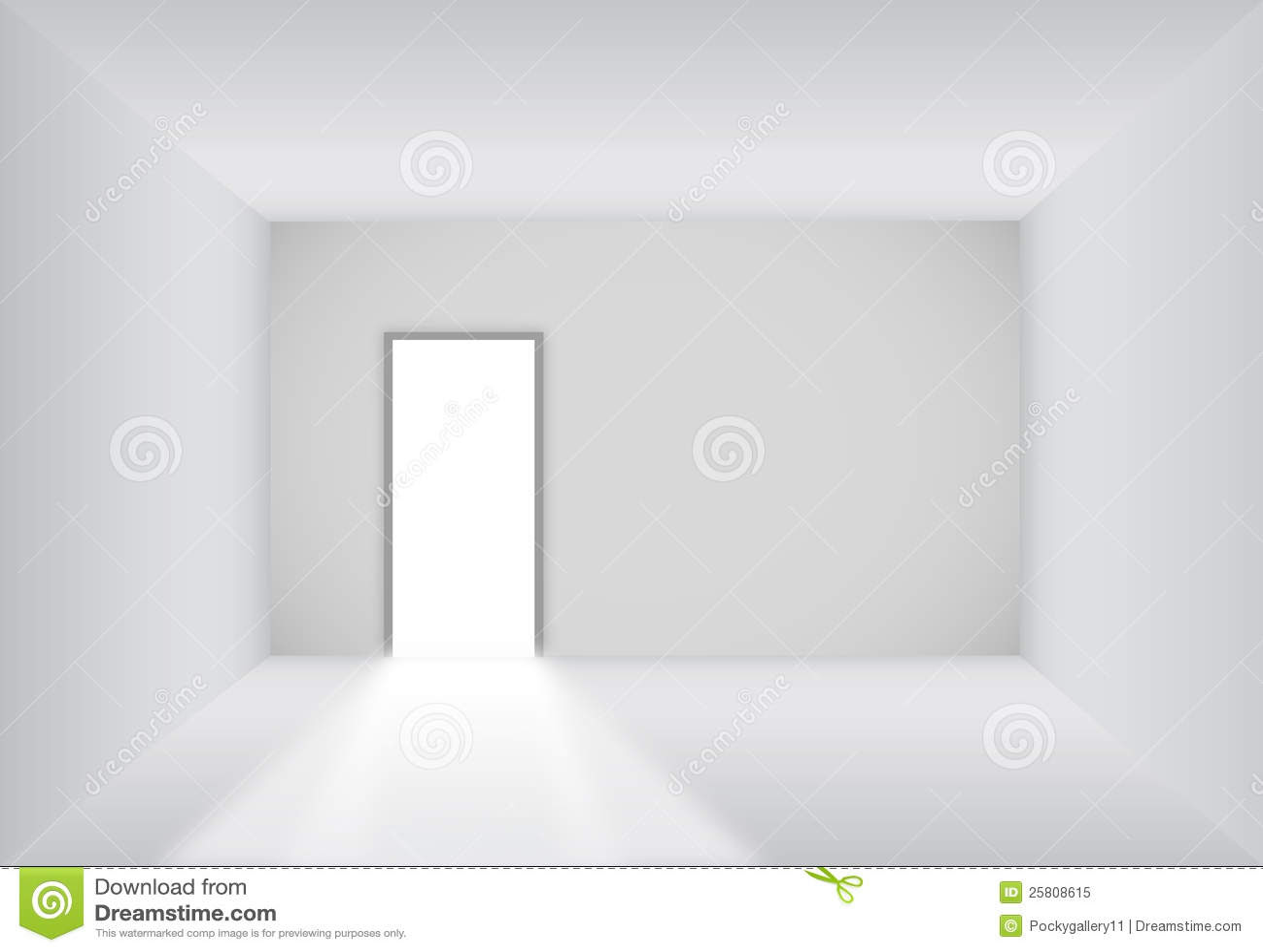 Blank Room With Open Door Royalty Free Stock Photo - Image: 25808615