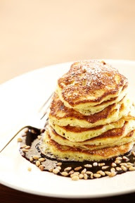 Blueberry Lemon Ricotta Pancakes - brunch at Solbar!  www.solagecalisto...