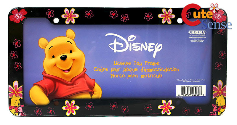 Disney Winnie Pooh Friends License Plate Frame Car Auto