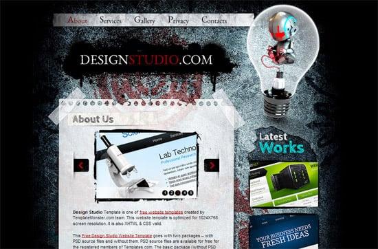 DesignStudio free CSS template