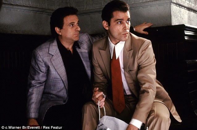 Up to no good: Joe Pesci and Ray Liotta keep a watchful eye during the film Goodfellas