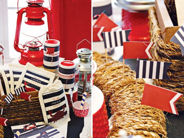 Americana Style Nautical Low Country Boil Party Hostess With