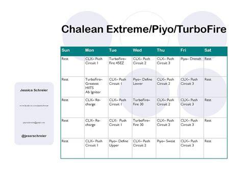 chalean extremeturbofirepiyo hybrid schedule