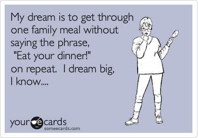 I dream big.