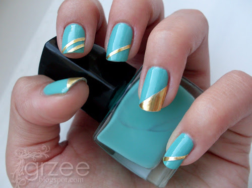 34 Amazing DIY Nail Art Ideas Using Scotch Tape (25)