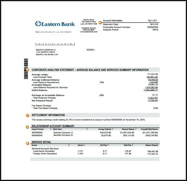 Fake Bank Statement Template Free Happy Living