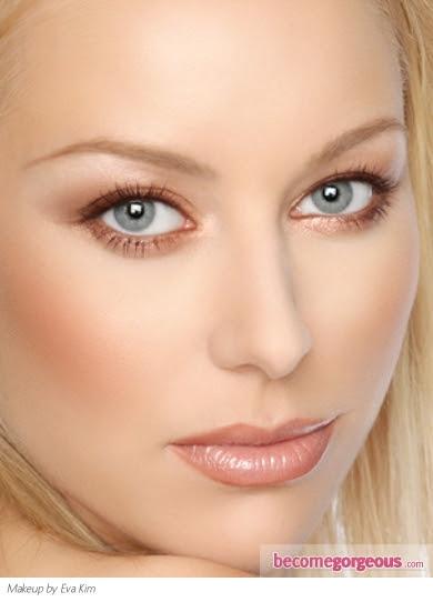 Soft Copper Eye Makeup