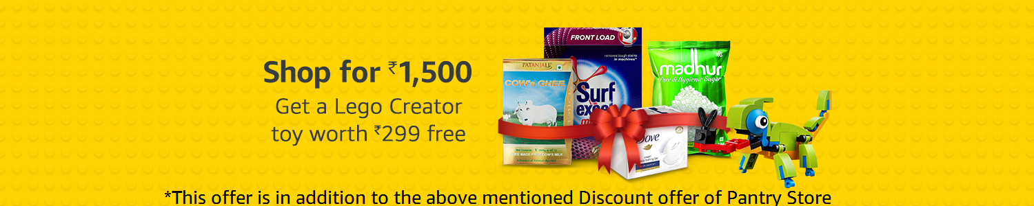 Shop for Rs1500 get toy worth Rs 300 free