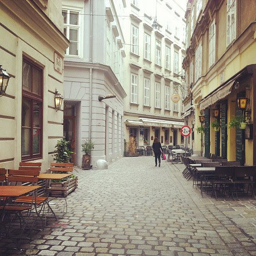 Old city charm, cobblestones.