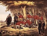 Garibaldi ferito in un dipinto del 1900